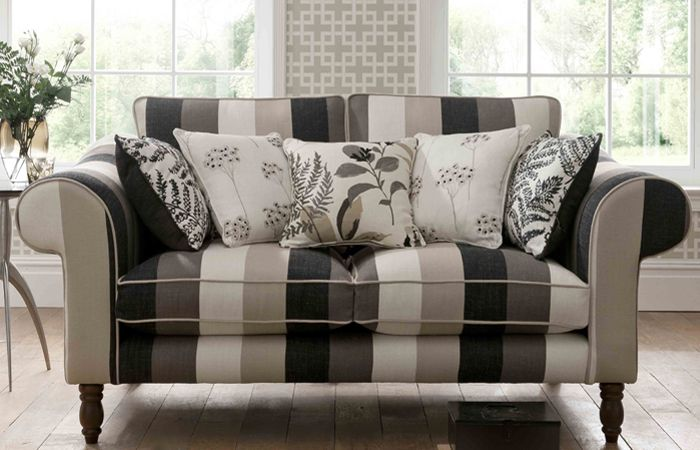 Clarke and Clarke Wild Garden fabric - sofa and cushions image