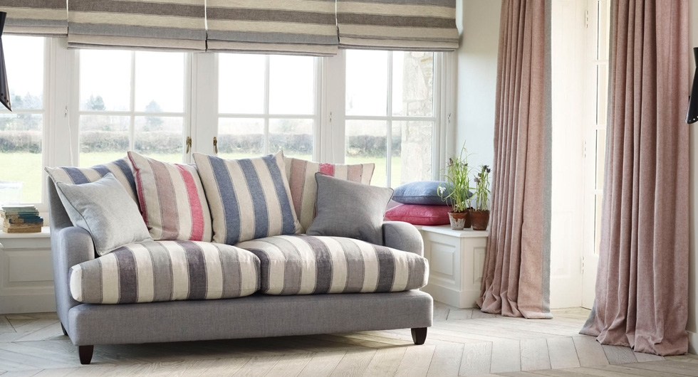 Linwood Drift fabric collection - lounge setting image