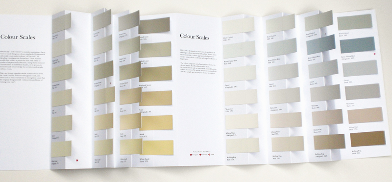 Little Greene Paint Colour Scales - image of paint chart