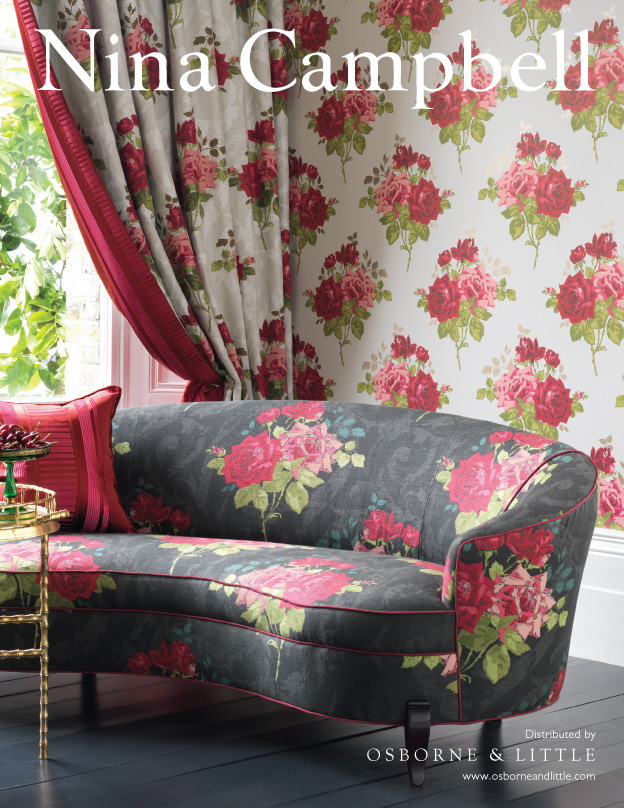 nina campbell paradiso fabric and Wallcoverings - roomset image