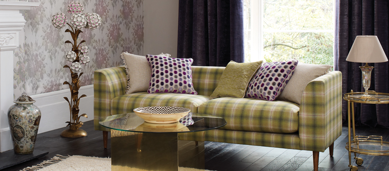 osborne little corniche fabric on a sofa