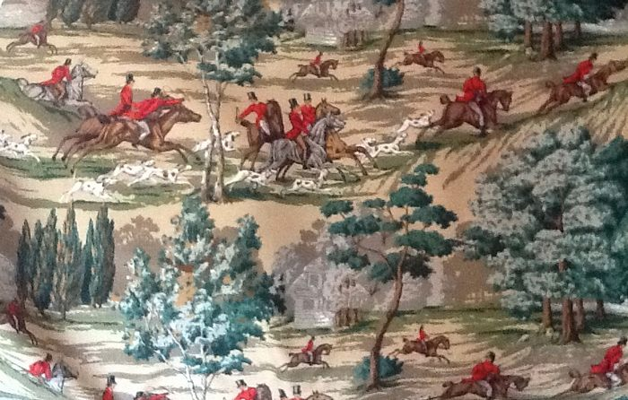 The Hunting Scene fabric by Sanderson