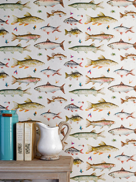 voyage country wall art river fish - image