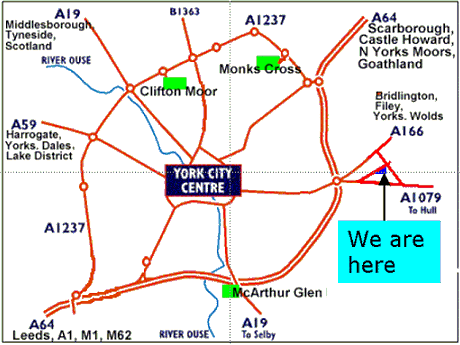 Map to find Fabric Gallery & Interiors - click for interactive map
