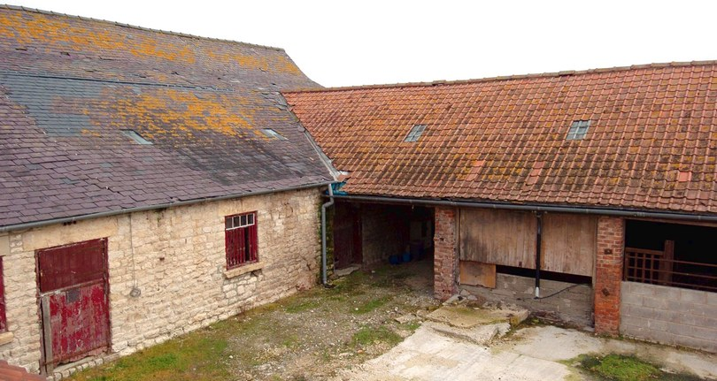 Cherrygarth Farm: Derelict farm building before conversion into luxury holiday cottages